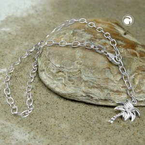 Chaine de cheville ancre chaine charme argent 925 Krossin bijoux en argent 25cm 111028x