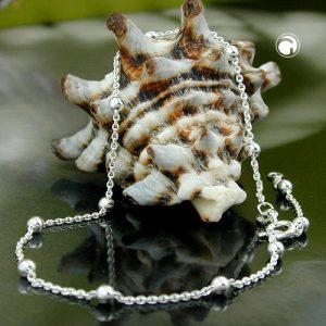 Chaine de cheville avec 12 balles argent 925 Krossin bijoux en argent 25cm 111030 25x