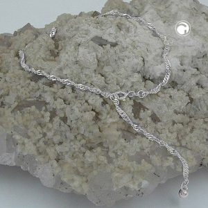 Chaine de cheville chaine Singapour argent 925 Krossin bijoux en argent 25cm 144350 27x