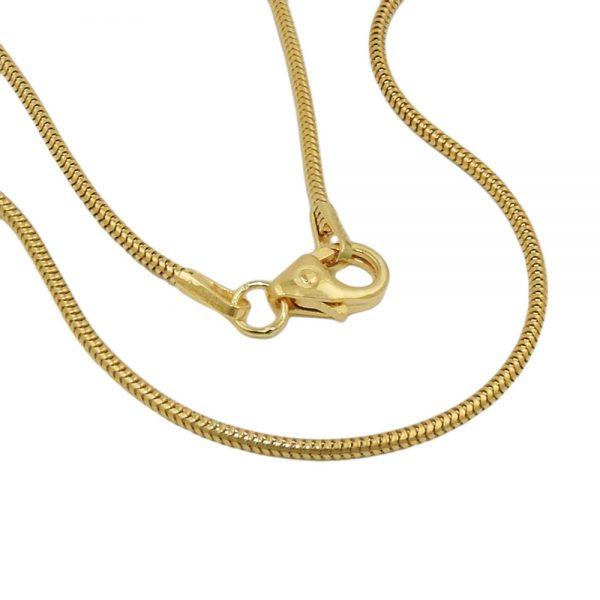 Chaine de serpent 50cm 1.2mm 14k or 519006 50xx