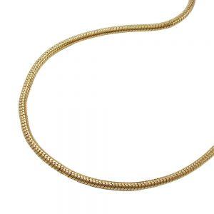 Chaine de serpent mince plaque or 219010 38xx