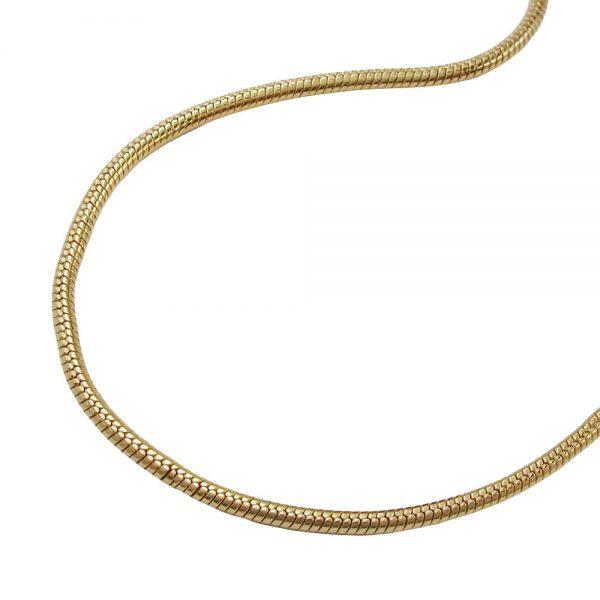 Chaine de serpent mince plaque or 219010 60xx