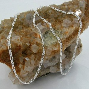 Chaine figaro fine argent 925 Krossin bijoux en argent 38cm 113631x