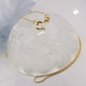 Chaine fine fantaisie 42cm or 14 carats Krossin bijoux or 530007x