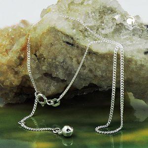 Chaine gourmette en argent 925 Krossin bijoux en argent 27cm 101401 27x