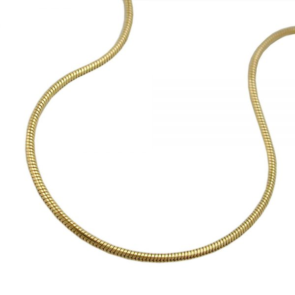 Chaine serpent 45cm rond or 14 carats 519004 45xx