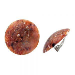 Clip on boucle doreille rond rouge brun noir blanc 30mm 00547xx
