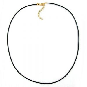 Collier 2mm elastique bandeau plaque or 55cm 00761 55xx