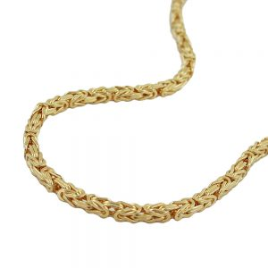 Collier 3mm chaine byzantine plaque or 237000 45xx