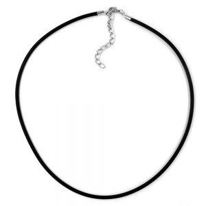 Collier 3mm elastique bande fermoir en argent 45cm 00763 45xx