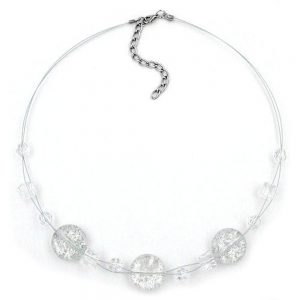 Collier 3x disque blanc paillete 02840xx
