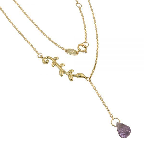 Collier 45cm amethyste en or 9 carats 511021 45xx