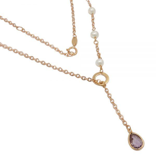 Collier 45cm amethyste en or 9 carats 525001 45xx