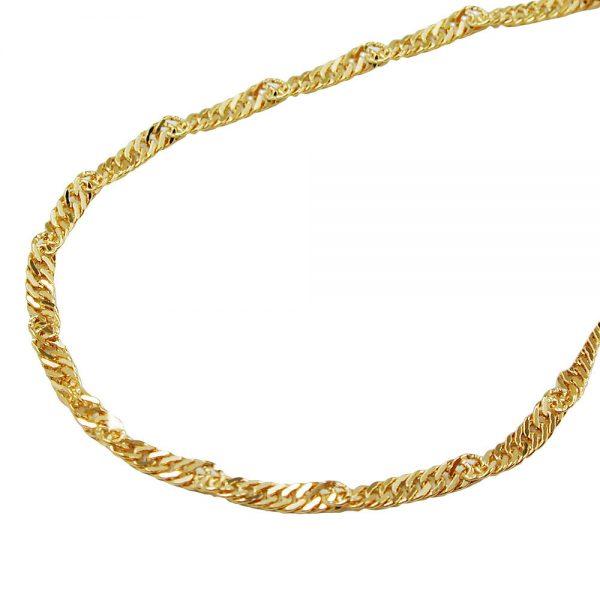 Collier  45cm chaine en or 9 carats 518004 45xx
