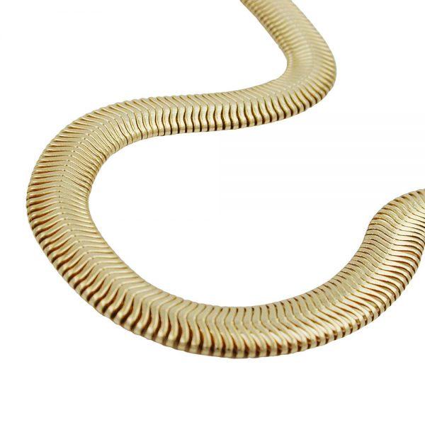Collier 6x2mm serpent chaine plaque or 220000 50xx