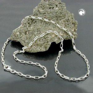 Collier ancre chaine liens rectangulaires argent 925 Krossin bijoux en argent 42cm 111029x
