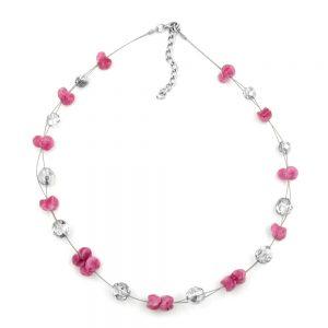 Collier antique comme argent rose miroir 00694xx
