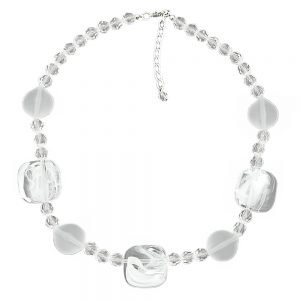 Collier blanc transparent 45cm 00868xx