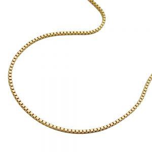 Collier boite chaine 38cm 9k or 506080 38xx