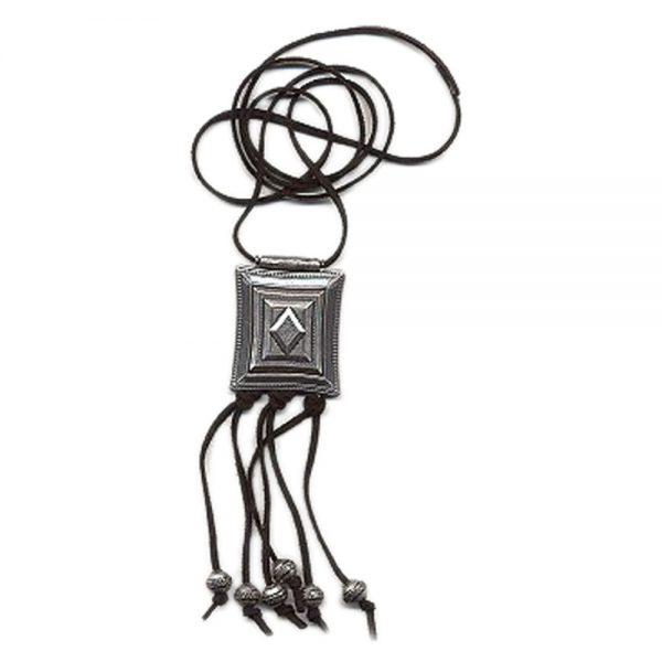 Collier carre argent antique 01461xx