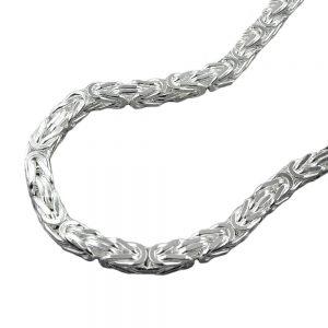 Collier chaîne byzantine 3mm carre argent 925 Krossin bijoux en argent 45cm 137000 45xx
