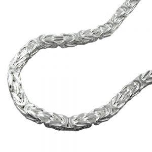 Collier chaîne byzantine 4mm argent 925 Krossin bijoux en argent 60cm 137001 60xx