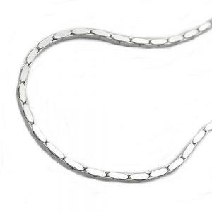 Collier chaîne carree cobra argent 925 Krossin bijoux en argent 45cm 116002 45xx