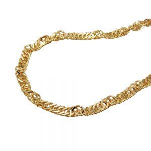 Collier chaine  42cm 9k or 518002 42xx