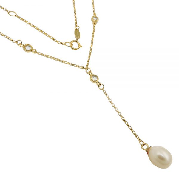 Collier chaine 45cm perle 9k or 511022 45xx