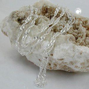 Collier chaine Singapour argent 925 Krossin bijoux en argent 50cm 118000x