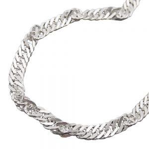 Collier chaine Singapour argent 925 Krossin bijoux en argent 50cm 118001 50xx