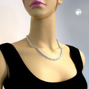Collier chaine byzantine 4mm argent 925 Krossin bijoux en argent 45cm 137001x