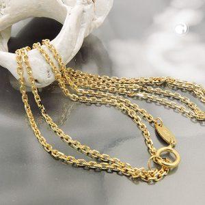 Collier chaine d ancre 45cm en or 9 carats Krossin bijoux or 511020x