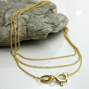 Collier chaine d ancre mince 36cm or 9 carats Krossin bijoux or 511015x