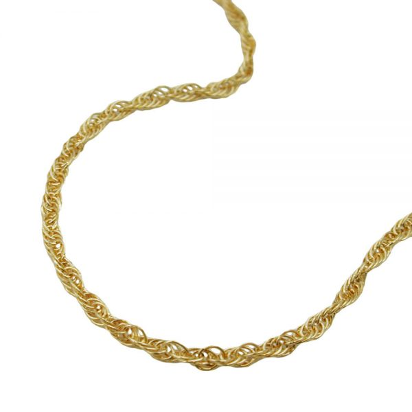 Collier chaine d ancre torsadee or 14 carats 514000 45xx