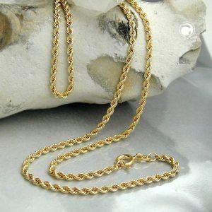 Collier chaine de corde 42cm 9k or Krossin bijoux or 517004x