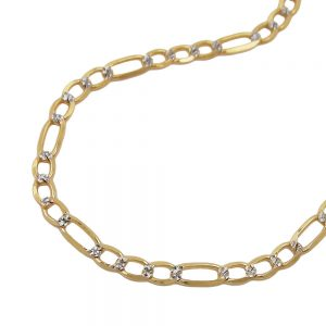 Collier chaine figaro 45cm or 14 carats 510003 45xx