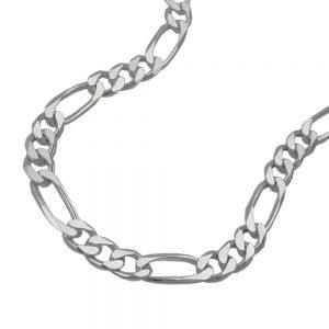 Collier chaine figaro plat argent 925 Krossin bijoux en argent 50cm 110012 50xx