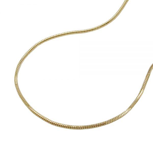 Collier chaine serpent a 5 tranchants 42cm or 14 carats 519001 42xx