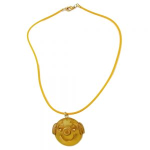 Collier clown jaune mat poli 06358xx