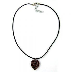 Collier coeur couleur cuivre 05970xx