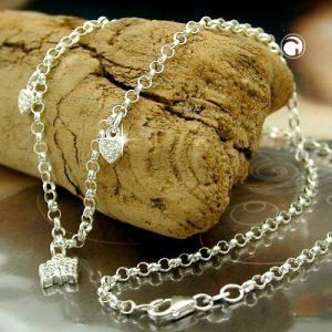 Collier coeurs et papillon argent 925 Krossin bijoux en argent 125002x
