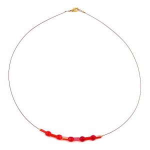 Collier coquillage forme coeur couleur cuivre 06963xx