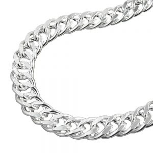 Collier double chaine argent 925 Krossin bijoux en argent 50cm 103000xx