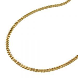 Collier gourmette 2x taille diamant 8k or 42cm 501401 42xx