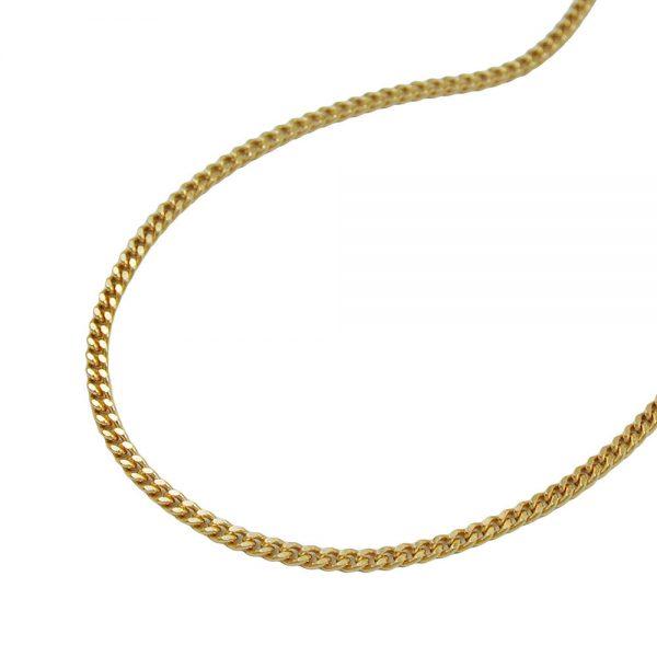 Collier gourmette 2x taille diamant 9k or 45cm 501351 45xx