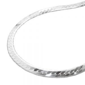Collier gourmette aplatie argent 925 Krossin bijoux en argent 50cm 115660 50xx