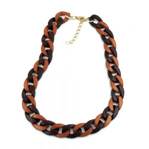Collier gourmette marron 00973xx