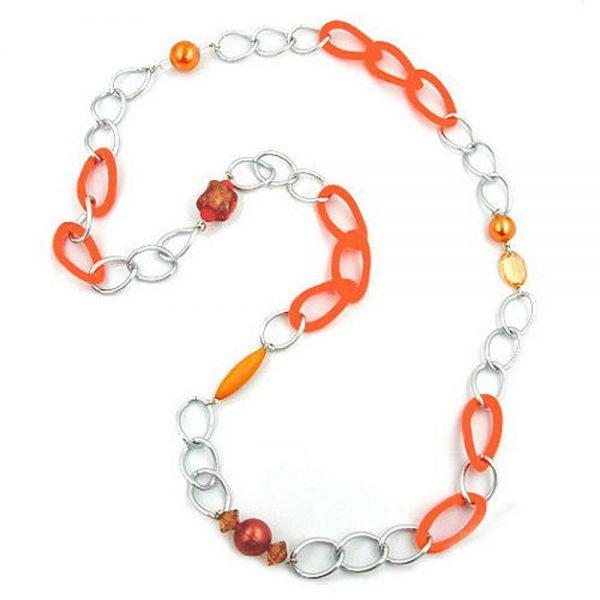 Collier gourmette perles 95cm 02495xx
