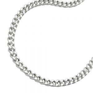 Collier gourmette plate argent 925 Krossin bijoux en argent 55cm 101003 55xx